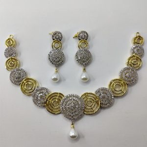 Golden and Silver Rounded Necklace Combo