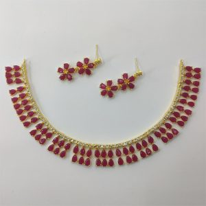 Red Necklace Combo Set