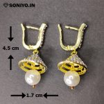 Golden and Silver cone shaped Earring