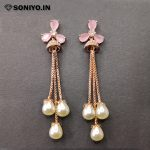 Rose Gold Jumka with Pearls