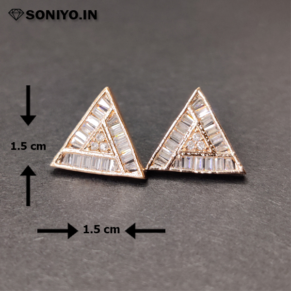 Rose Gold Triangle shaped Earring