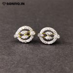Silver Earring with two Diamonds