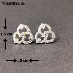 Golden and Silver American Diamond Earring