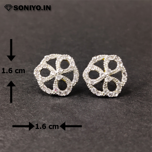 Three Oval shaped Silver Earring