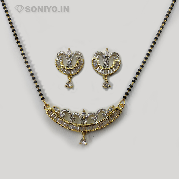 Golden Mangalsutra with White Pearls