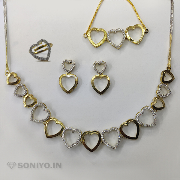 Golden and Silver Heart Combo