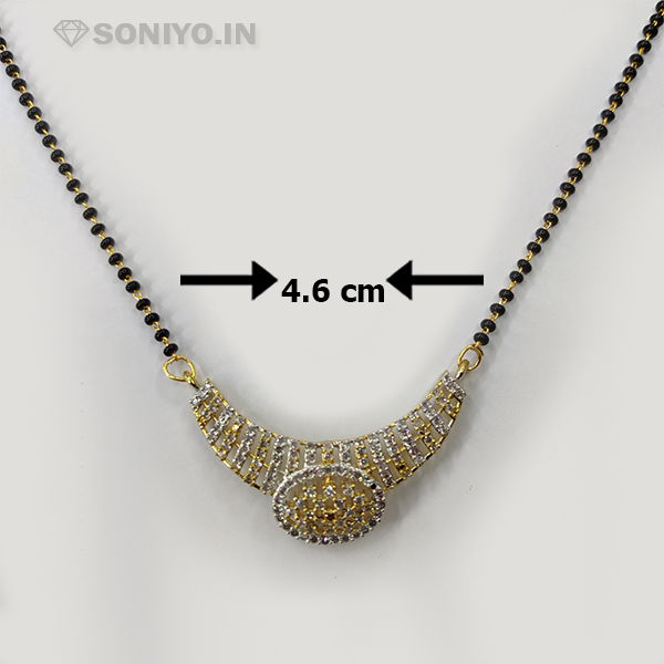 Golden and Silver Oval Shaped Mangalsutra