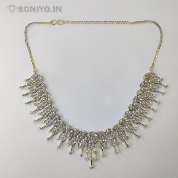 Golden and Silver Necklace Combo
