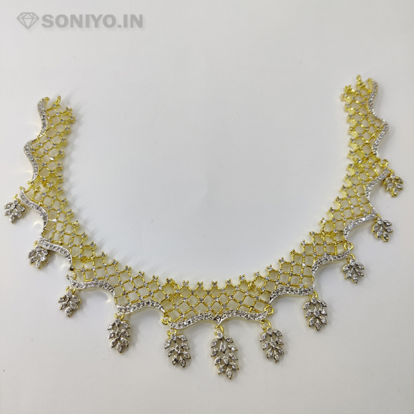 Golden and Silver Necklace Combo with Leaves