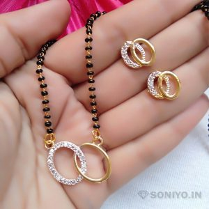 Golden and Silver Round Mangalsutra Combo