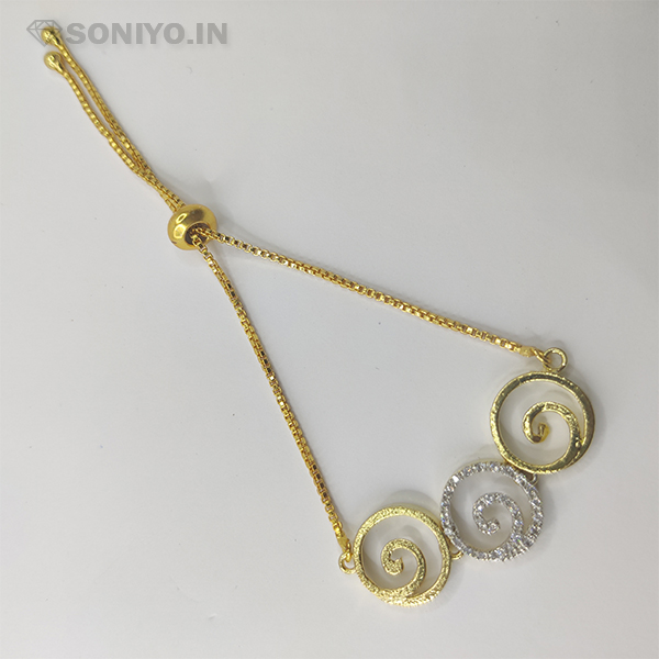 Golden and Silver Spiral Shaped Combo