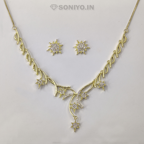 Golden Star Necklace and Earring Combo