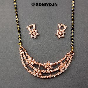 Rose Gold Mangalsutra with Flowers