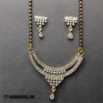 Silver Mangalsutra covered with White Diamonds