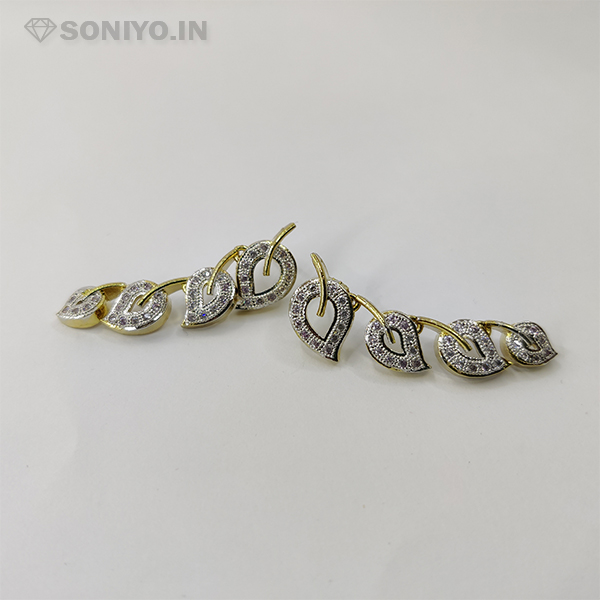 Silver Leaves Necklace and Earring Combo