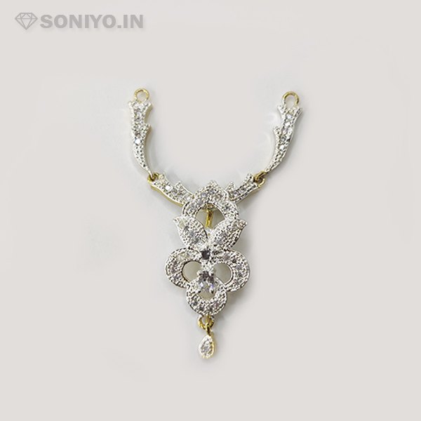 Silver Mangalsutra with Flower