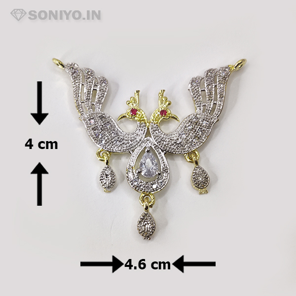 Silver Mangalsutra with Golden Peacock