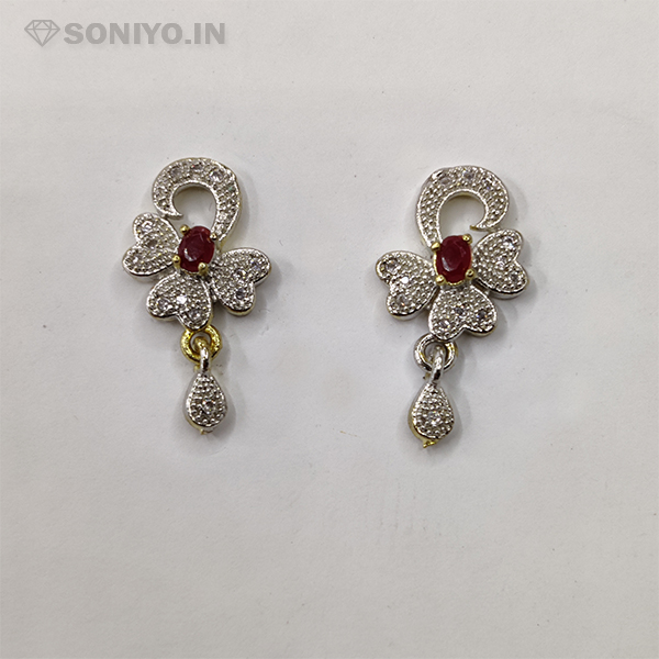 Silver Mangalsutra with Red Stone