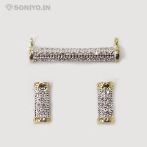 Silver Mangalsutra covered with White stones