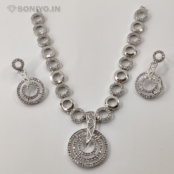 Silver Round shape Necklace Combo