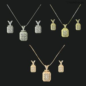 Curved Rectangle Necklace Combo - Ad