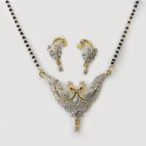 Two Golden Peacock Mangalsutra Combo - AD