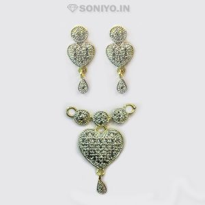 Silver Circle and Heart shaped Mangalsutra Combo - AD