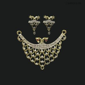 Golden and Silver Peacock Mangalsutra Combo - AD