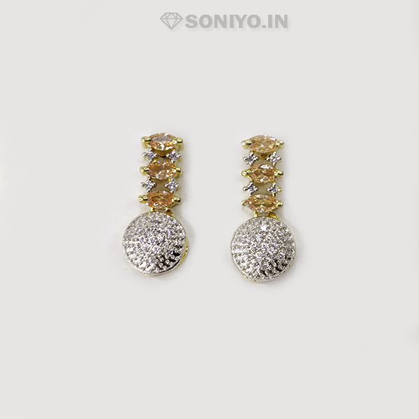 Golden Four in One Combo with Champagne Color Stones - AD