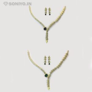 Golden Tree designed Necklace Combo - AD