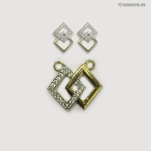 Golden and Silver Rhombus Mangalsutra Combo - AD