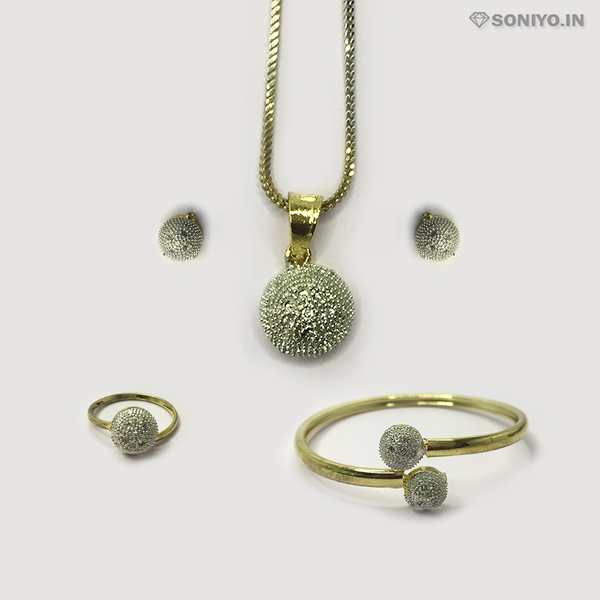 Golden Four in One Silver Circle Combo Set - AD