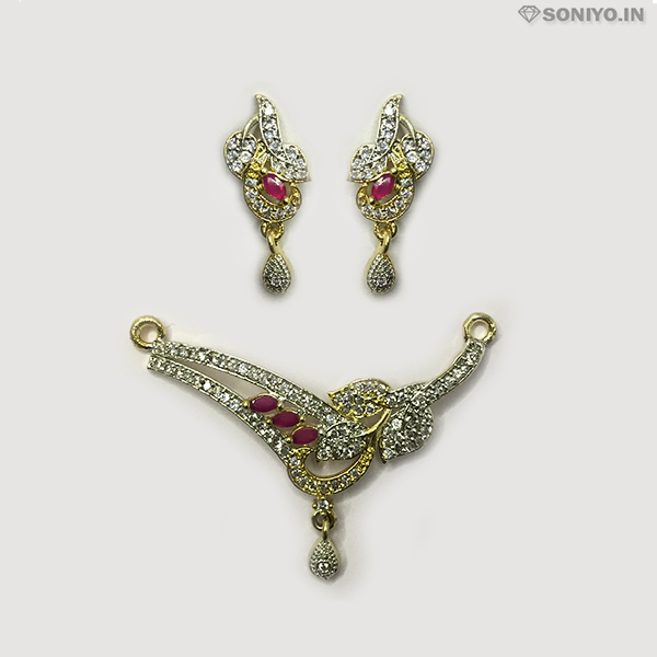 Golden and Silver Leaf Mangalsutra combo - AD