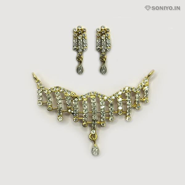 Golden Mangalsutra Combo with Silver Lines - AD